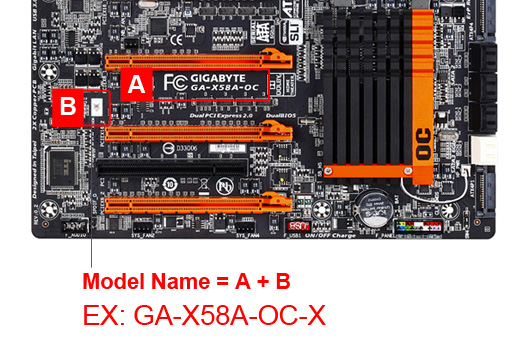 how to find motherboard model no